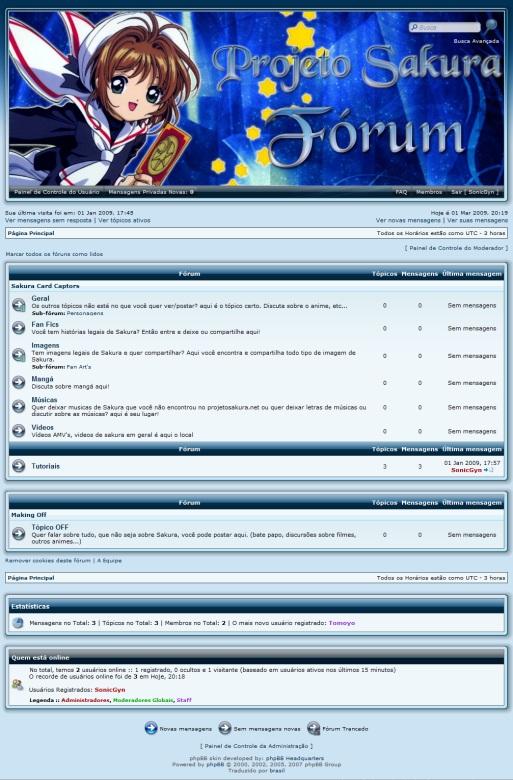 novo fórum